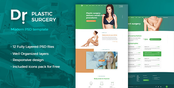 Dr. Plastic Surgery - PSD Template - Health & Beauty Retail