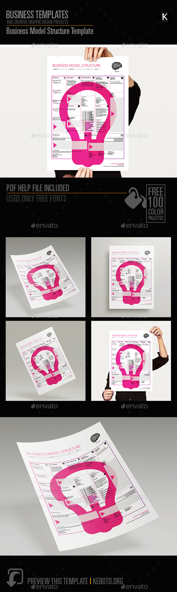 Business Model Structure Template - Miscellaneous Print Templates