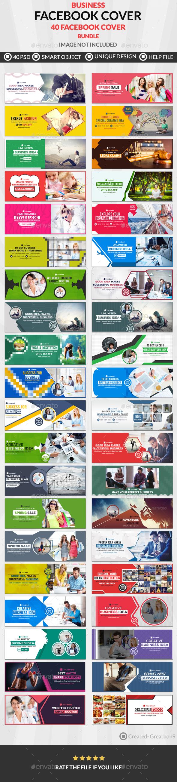 Facebook Cover - 40 Design - 10 Set - Facebook Timeline Covers Social Media
