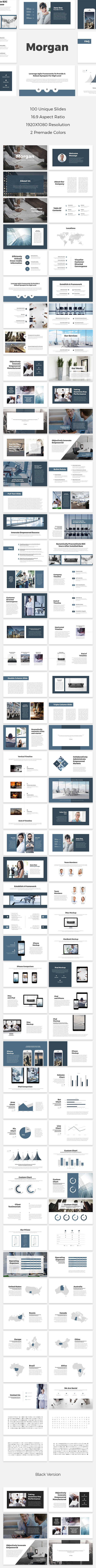 Morgan PowerPoint Template - PowerPoint Templates Presentation Templates