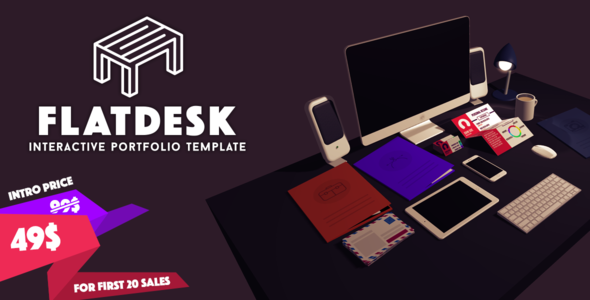 FlatDesk – Innovative Portfolio Template