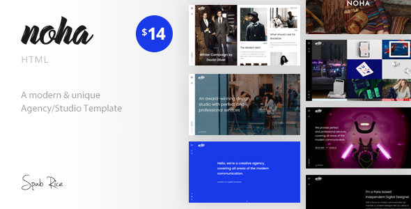 Noha – A modern & unique Agency / Studio Template