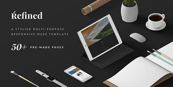Refined - Responsive Multi-Purpose Muse Template - Creative Muse Templates