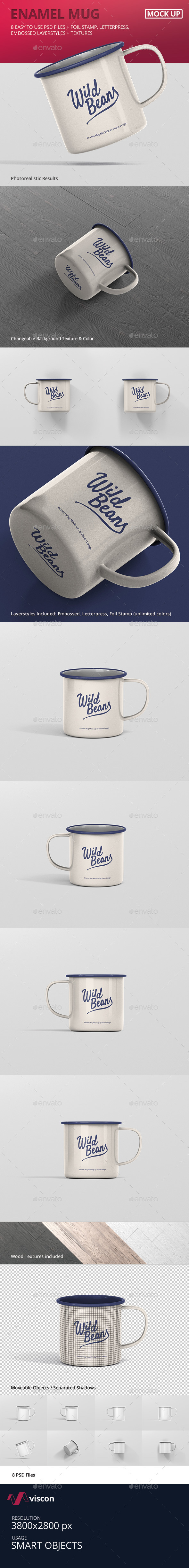 Enamel Mug Mockup - Food and Drink Packaging