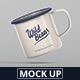 Enamel Mug Mockup - GraphicRiver Item for Sale