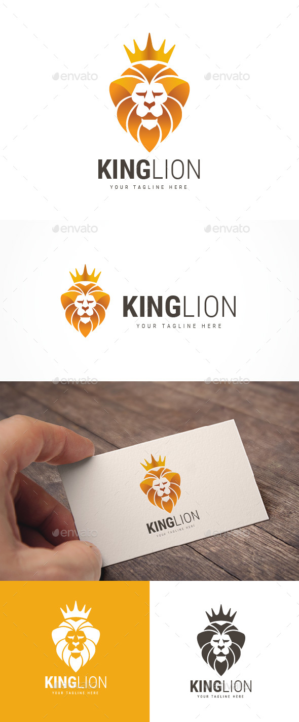 King Lion Logo - Animals Logo Templates