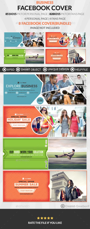 Facebook Cover Bundle(vol : 7) - 4 Design - Facebook Timeline Covers Social Media