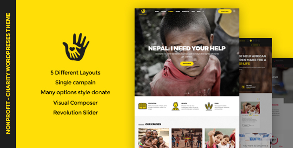 CharityHeart - Charity | Single Charity | Crowdfunding | Nonprofit Responsive WordPress Theme - Charity Nonprofit