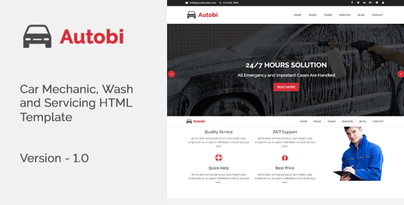 Autobi – Car Mechanic, Wash and Servicing HTML Template