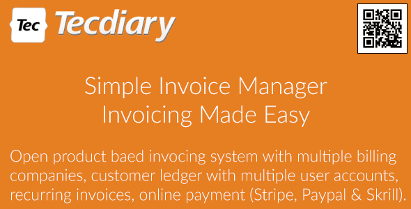 Simple Invoice Manager Invoicing Made Easy By Tecdiary CodeCanyon - Simple invoice online