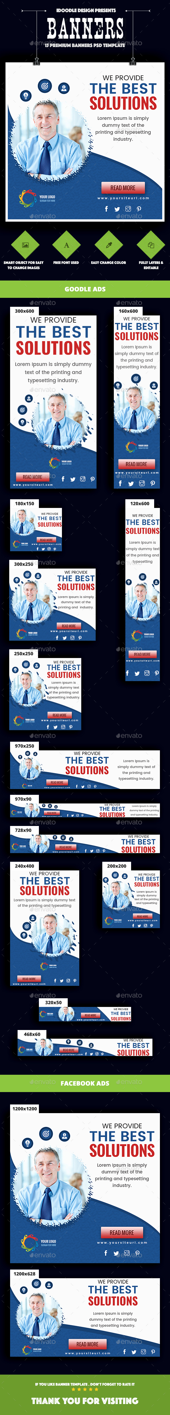 Multipurpose,Corporate, Business Banners Ad - Banners & Ads Web Elements