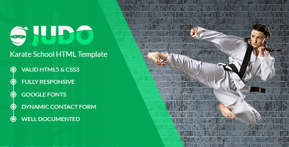 Judo - Karate School HTML Template - Health & Beauty Retail