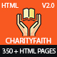 CharityFaith - Nonprofit, Crowdfunding, Education & Charity HTML5 Template - ThemeForest Item for Sale