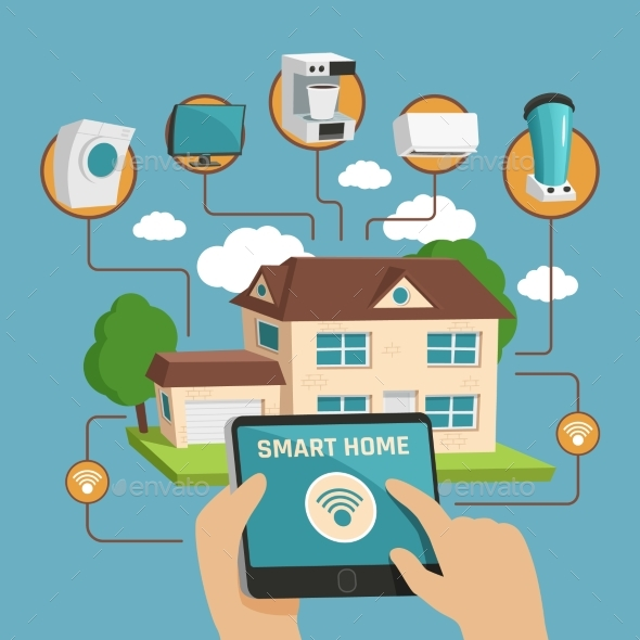 Smart Home Design Concept - Man-made Objects Objects