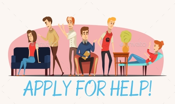 Apply For Help To Psychologist Poster - Health/Medicine Conceptual