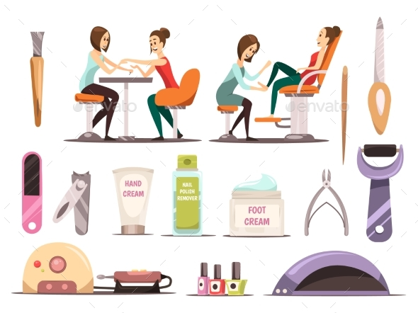 Manicure Icons Set - Business Conceptual