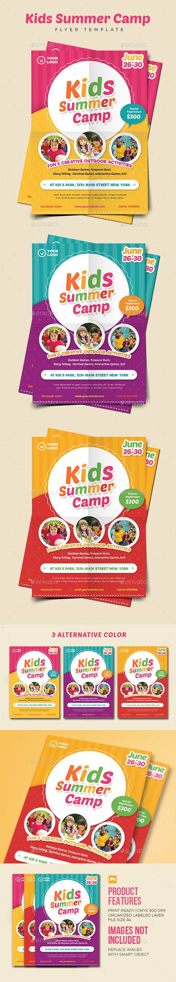 Kids Summer Camp Flyer 02 - Holidays Events