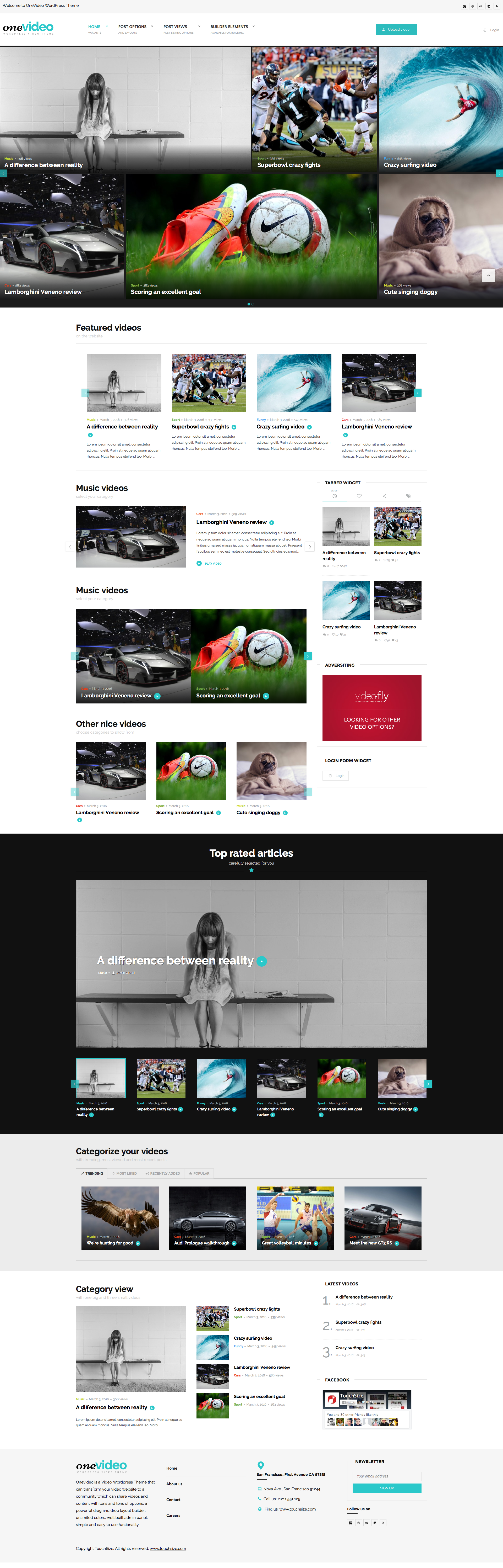 OneVideo - Video Community & Media WordPress Theme by upcode ...