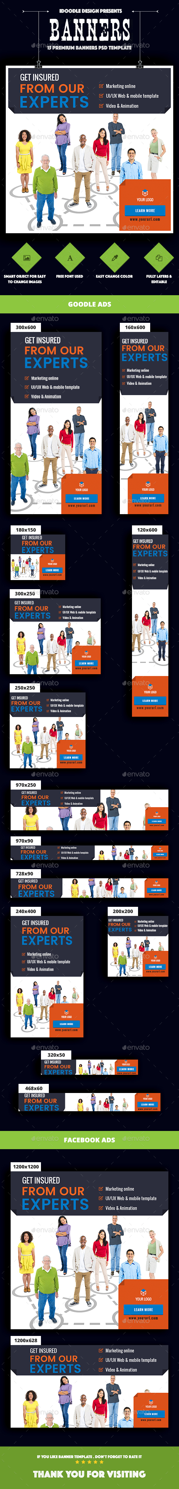 Multipurpose, Corporate, Business Banner Ad - Banners & Ads Web Elements