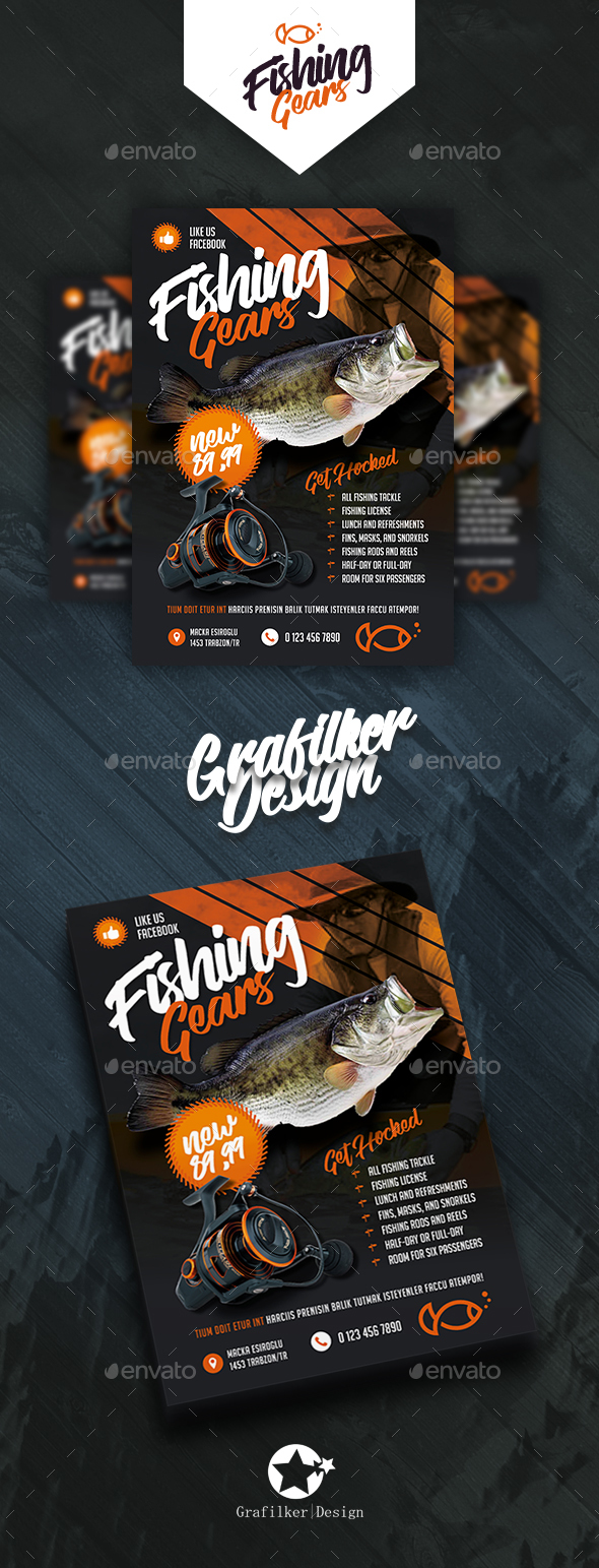 Fishing Gear Flyer Templates - Corporate Flyers