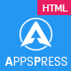 AppsPress - App Landing Responsive HTML5 Template - ThemeForest Item for Sale