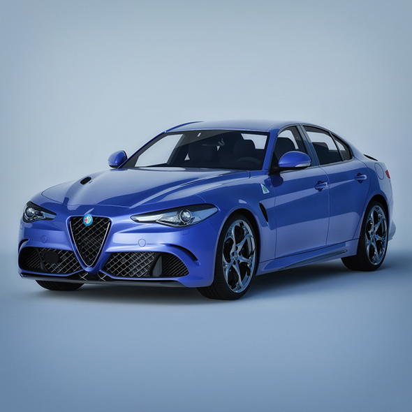 Vray Ready Alfa Romeo Giulia Car - 3DOcean Item for Sale