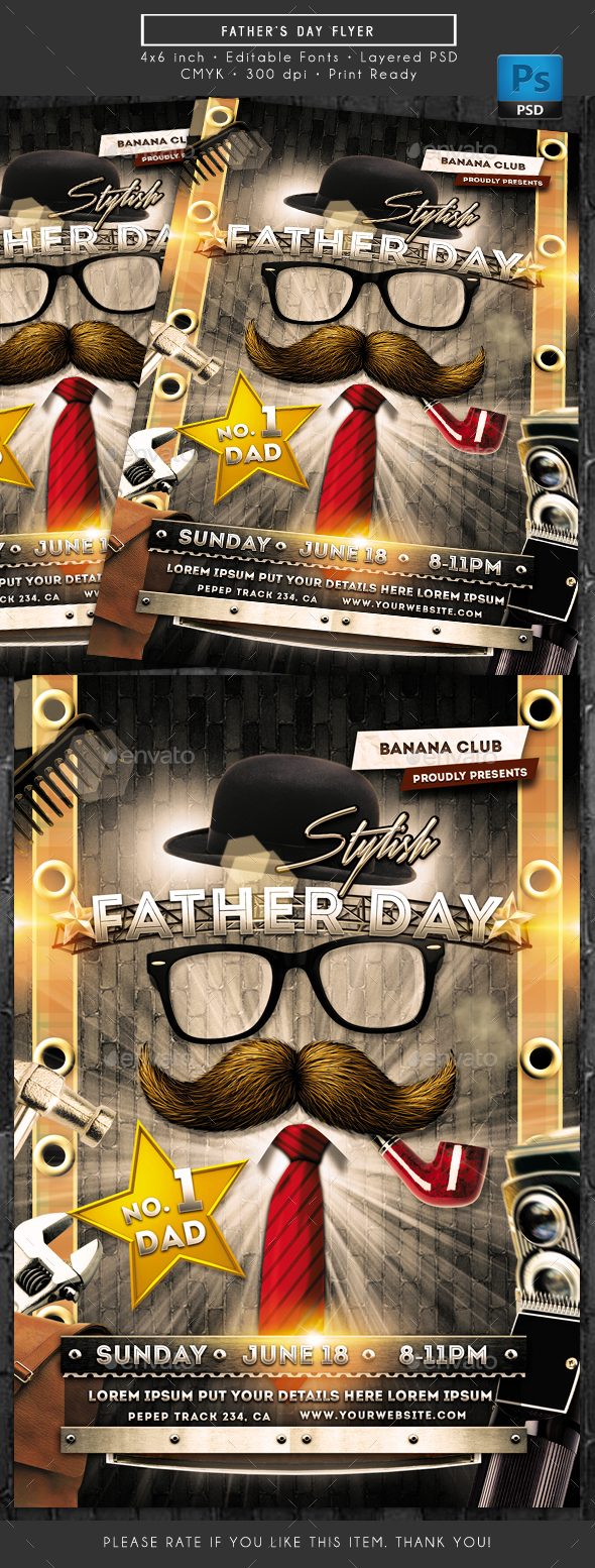 Father's Day Flyer - Holidays Events