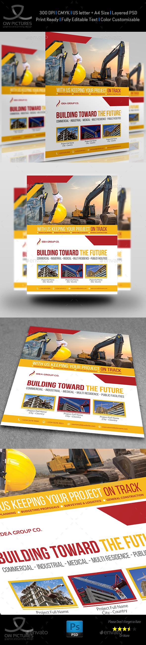 Construction Business Flyer Vol.6 - Flyers Print Templates