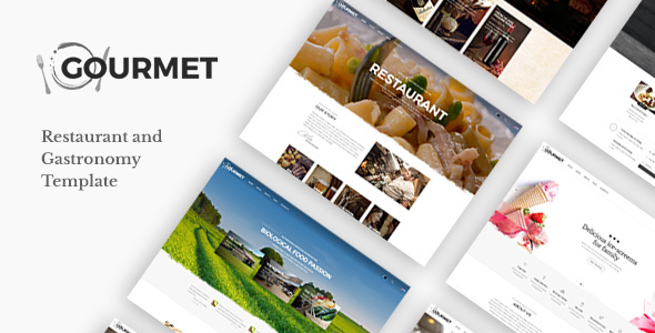 Gourmet - Restaurant & Gastronomy Template - Restaurants & Cafes Entertainment
