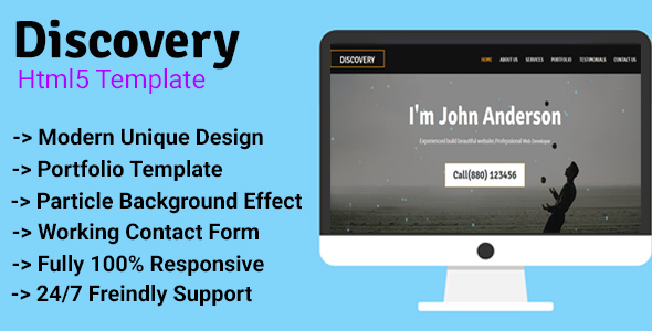 Discovery - Personal/Agency Portfolio Template