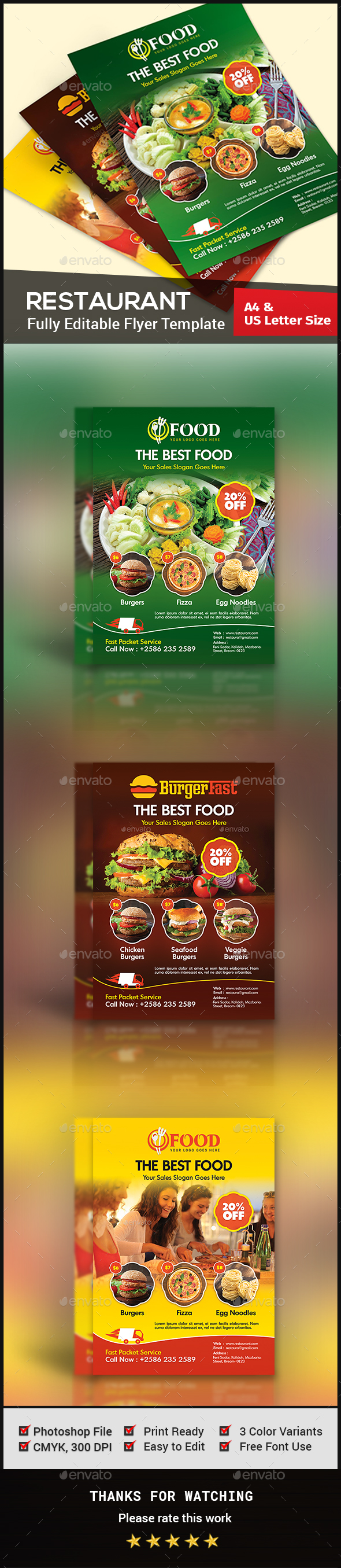 Restaurant Flyer - Restaurant Flyers