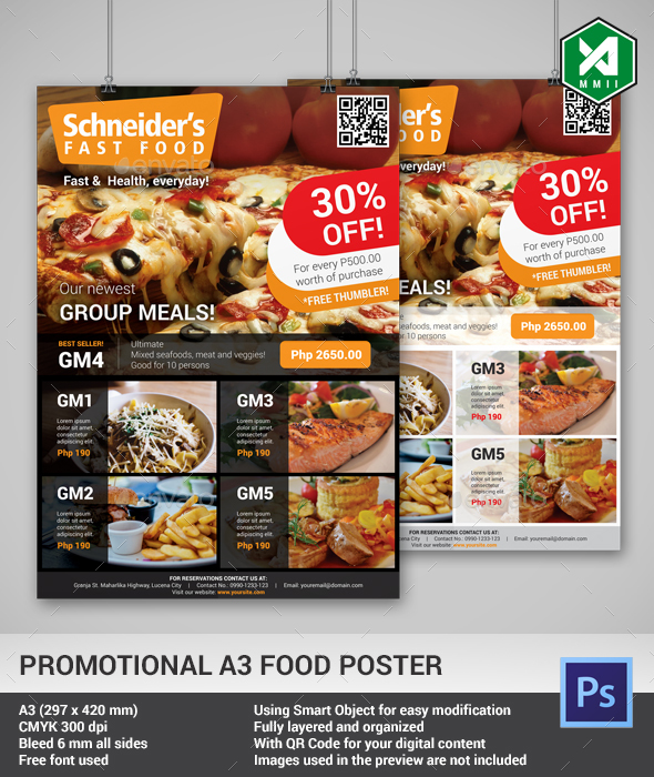 a3 food poster template light dark by alternative2002 graphicriver