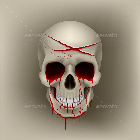 Bloody Skull - Halloween Seasons/Holidays