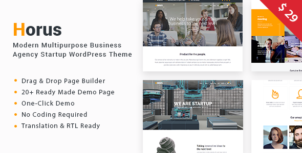 Horus – Multipurpose Business Agency Startup WordPress Theme
