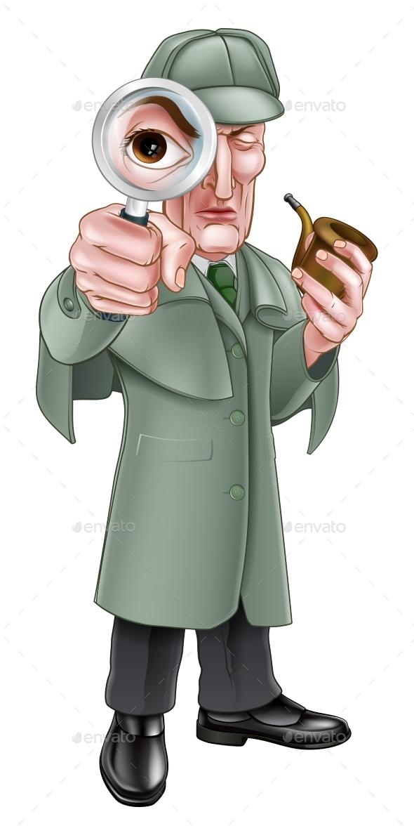 Cartoon Sherlock Holmes Detective - People Characters
