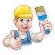 Painter Decorator Holding Paintbrush - GraphicRiver Item for Sale