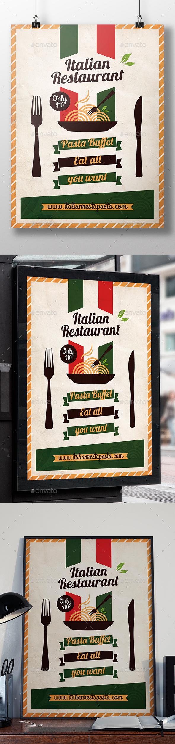 Italian Restaurant Flyer Template - Restaurant Flyers