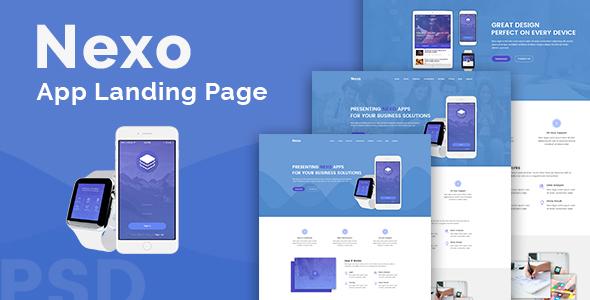 Nexo – Multipurpose Landing Page Template