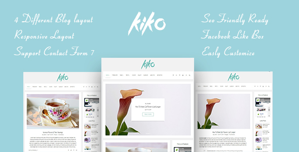 KIKO a Simple Clean & Minimal Blog Personal
