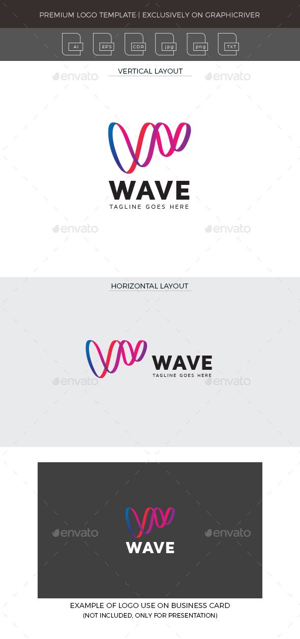Wave Logo Template - Letters Logo Templates