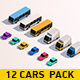 Cartoon Low Poly City Cars Pack - 3DOcean Item for Sale
