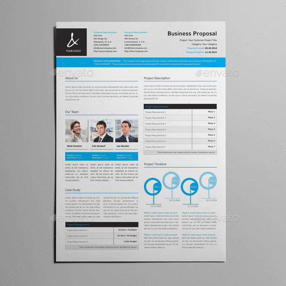 Proposal Resume Template By Keboto Graphicriver