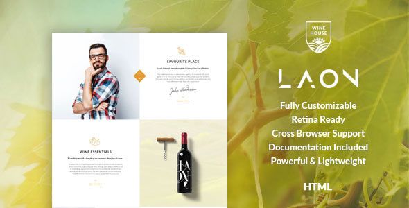 Laon | Wine House, Winery & Wine Shop HTML Template - Food Retail