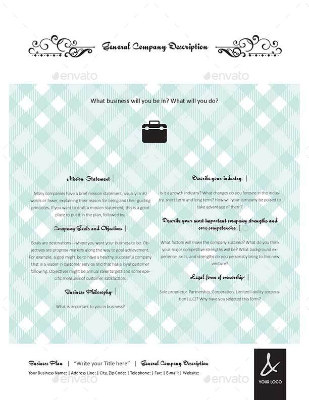 35 Pages Business Plan Template Letter Format By Keboto Graphicriver