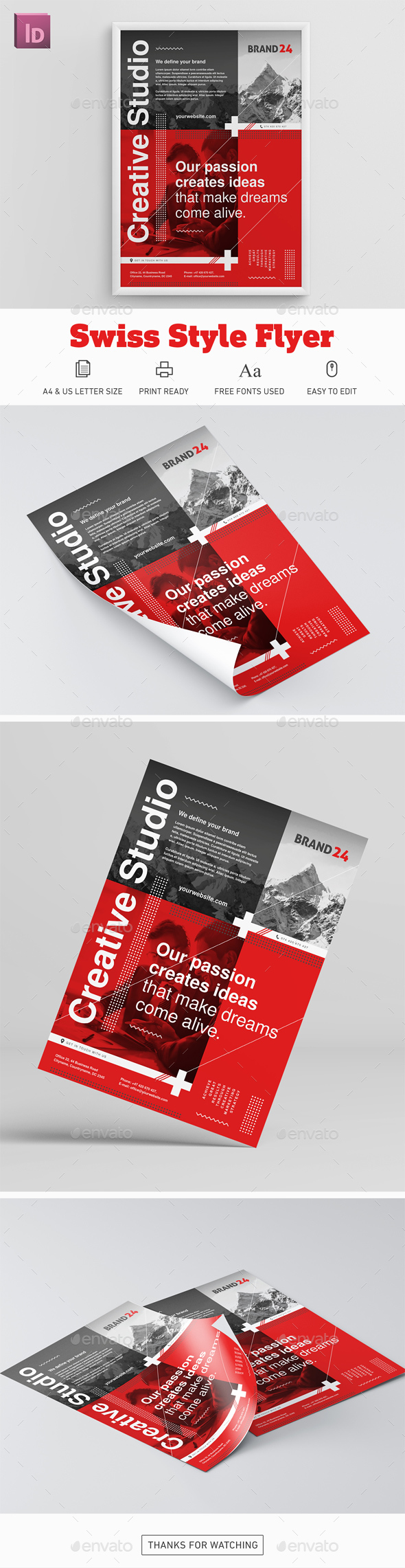 Swiss Style Flyer - Corporate Flyers