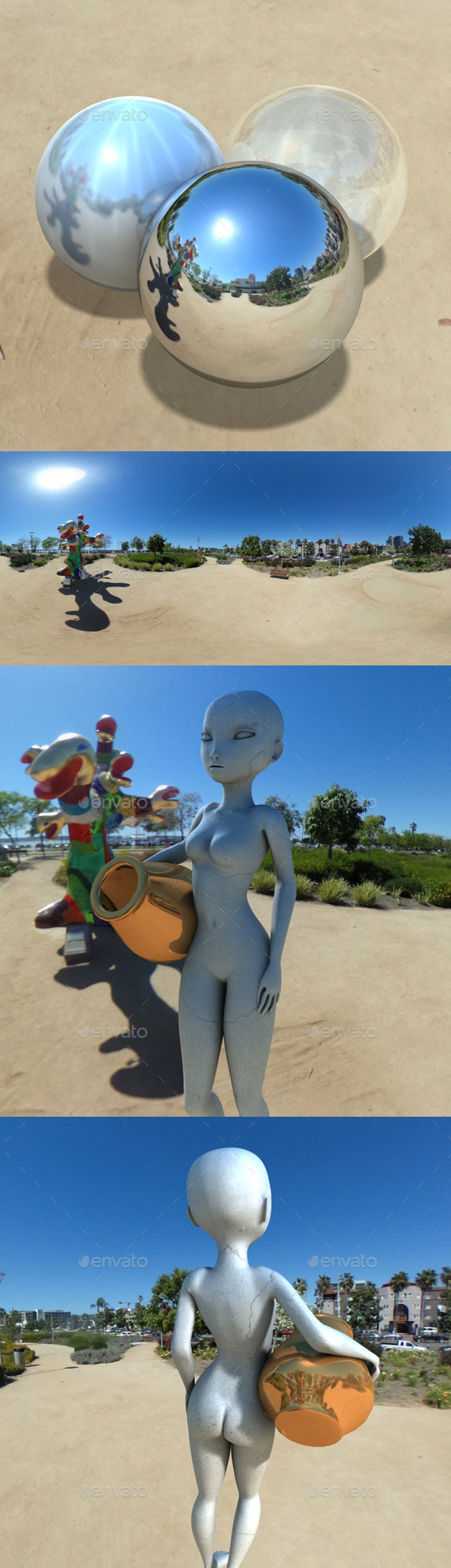 Clear Sky Sculpture Park HDRI - 3DOcean Item for Sale