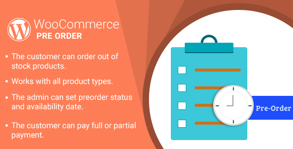 WordPress WooCommerce Pre Order Plugin - CodeCanyon Item for Sale