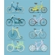Bicycle Set in Flat Design - GraphicRiver Item for Sale