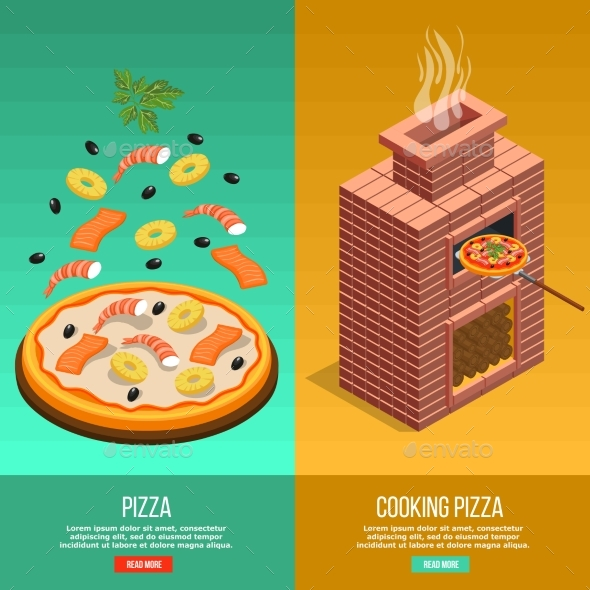 Pizza Baking Banner Set - Food Objects