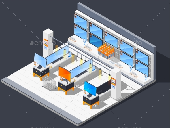 Television Set Store Composition - Technology Conceptual